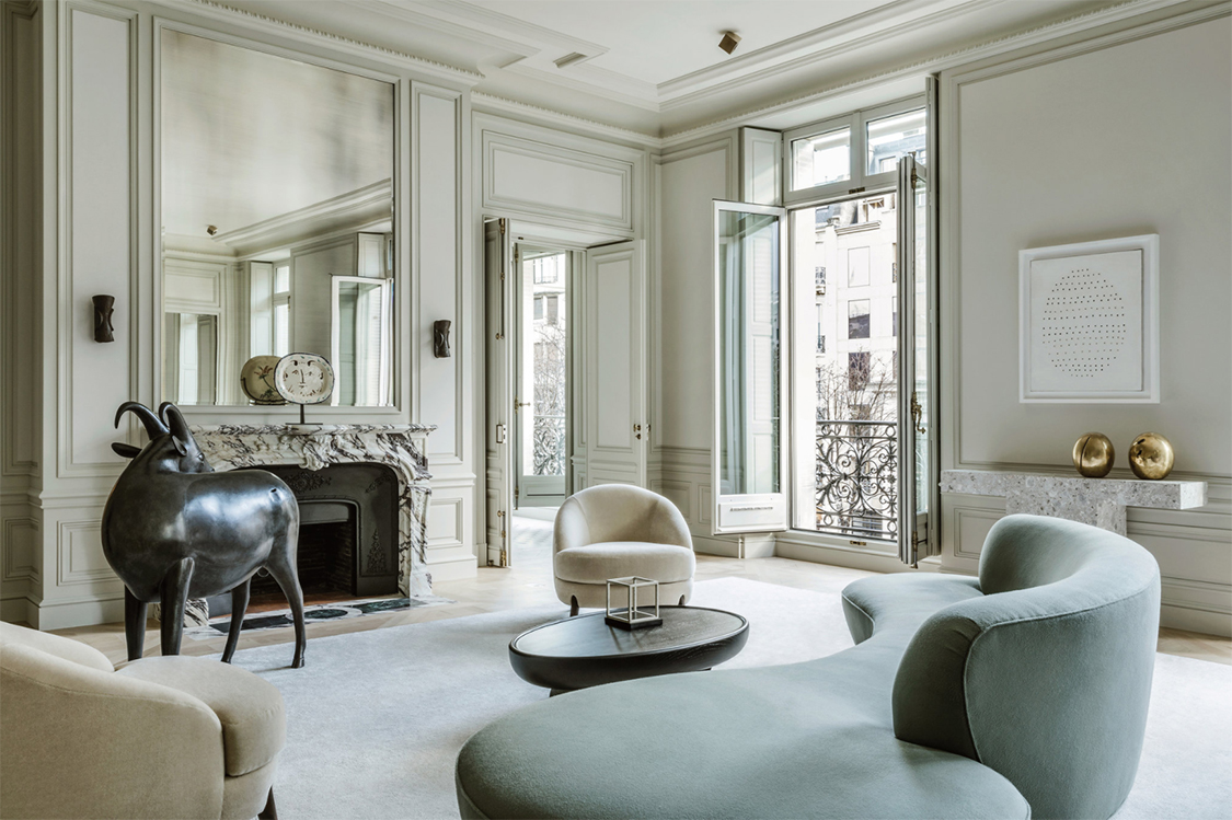 Avenue montaigne apartment by joseph dirand the cool for Architecture maison de maitre