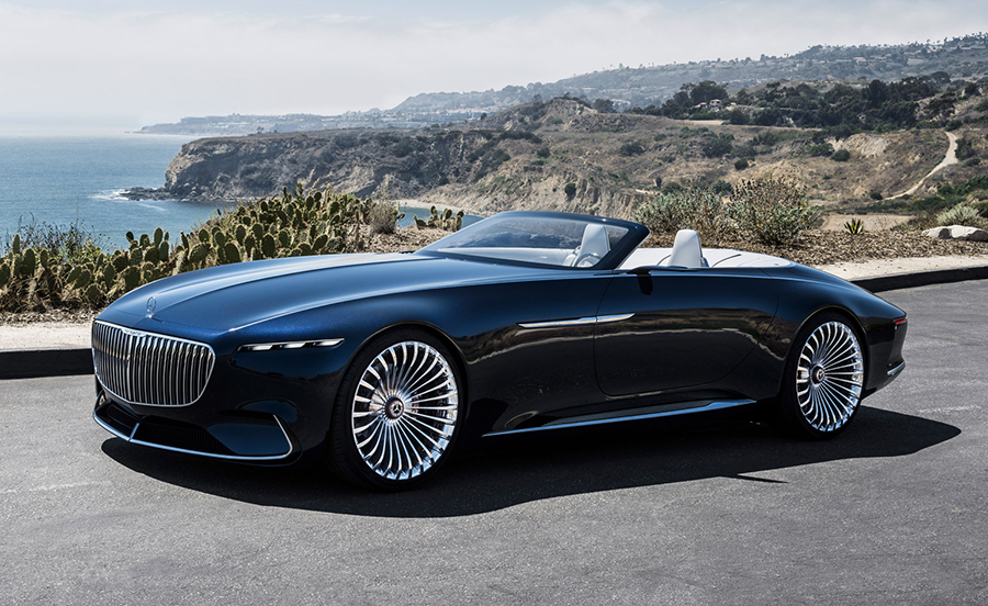 Spectators At This Year S Pebble Beach Concours D Élégance Were Struggling To Fit The Entire Length Of Mercedes Maybach Vision 6 Cabriolet Into One