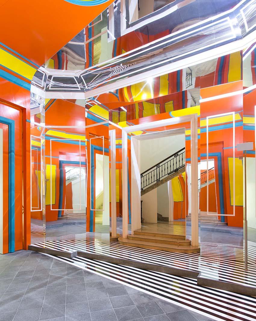 Daniel Buren Axer Installation Naples Italy