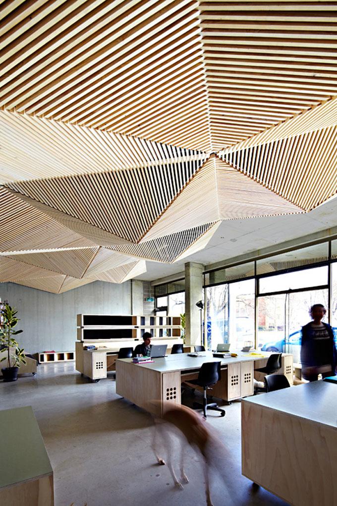 open office ceiling decoration idea. Assemble Studio \u2013 Melbourne Open Office Ceiling Decoration Idea P
