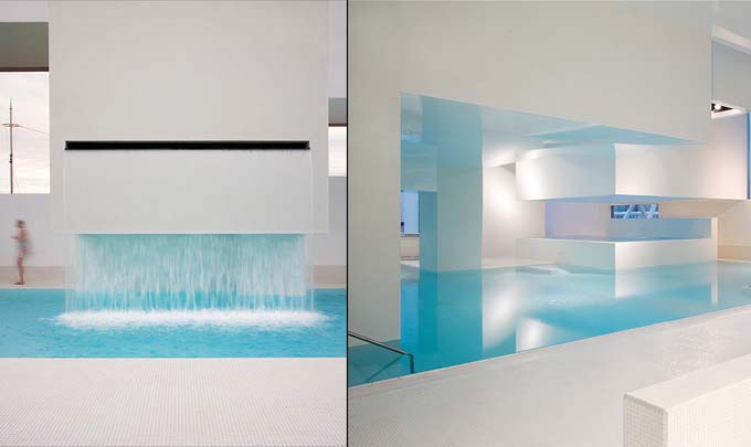 Feng shui inspired fort swimming pool issy les moulineaux for Piscine issy les moulineaux