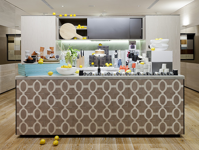 there are three kitchen displays with the latest designer kitchen accessories to purchase - Cool House Accessories